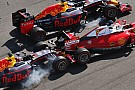 Vettel vents fury after Kvyat double hit