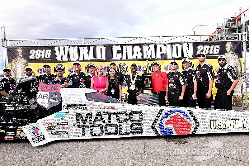 "Brown says his team is ""one of the best in NHRA history"""