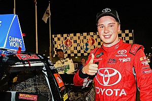 NASCAR Truck Race report Bell earns KBM's 50th truck win in Gateway thriller