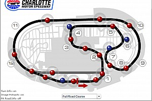 NASCAR stages road course test at Charlotte Motor Speedway