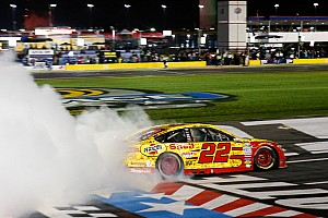 NASCAR Sprint Cup Race report Joey Logano takes All-Star win after battling Larson
