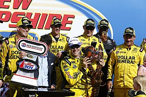 NASCAR Sprint Cup Race report Kenseth avoids the late-race chaos, wins in New Hampshire
