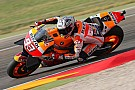 Aragon MotoGP: Marquez leads warm-up, Lorenzo crashes