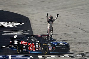 NASCAR XFINITY Race report Erik Jones takes Xfinity win and $100,000 bonus with late pass