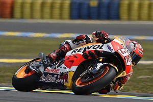 MotoGP Qualifying report Marquez qualifies second, crash relegates Pedrosa to row 4 at Le Mans