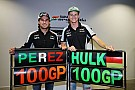Formula 1 Gallery: Hulkenberg and Perez's journey to 100 F1 grands prix