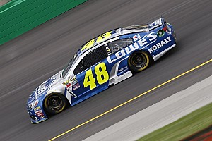 NASCAR Sprint Cup Practice report Severe weather halts Cup practice, Jimmie Johnson to a backup