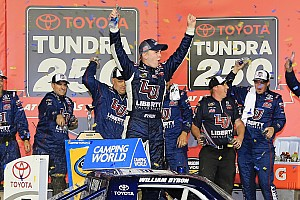 NASCAR Truck Race report William Byron snags first win as leaders crash on final lap
