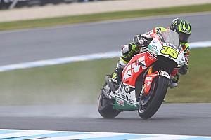 MotoGP Practice report Australian MotoGP: Crutchlow tops wet opening practice