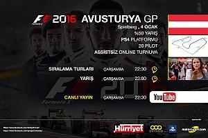 SİMÜLASYON DÜNYASI Son dakika F1 2016 online turnuva: Avusturya GP - Canlı Yayın