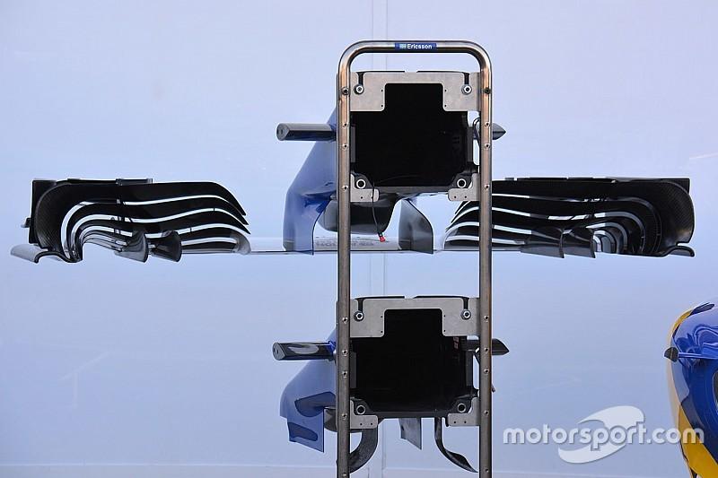 Sauber: sulla C35 c'è un muso più corto e un'ala anteriore tutta nuova