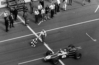 Formula 1 Photos - Jack Brabham, Brabham BT24 Repco takes the win
