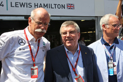 Dr. Dieter Zetsche, Daimler AG CEO with Thomas Bach, IOC President and Claudio Ranieri, Leicester City Manager