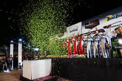 Podium: Prototype first place, #60 Michael Shank Racing with Curb/Agajanian Ligier JS P2 Honda: John Pew, Oswaldo Negri Jr., Olivier Pla, Prototype Challenge first place #52 PR1 Mathiasen Motorsports ORECA FLM09: Robert Alon, Tom Kimber-Smith, Jose Gutierrez, GT Le Mans first place #62 Risi Competizione Ferrari 488 GTE: Toni Vilander, Giancarlo Fisichella, James Calado, GT Daytona first place #33 Riley Motorsports SRT Viper GT3-R: Ben Keating, Jeroen Bleekemolen, Marc Miller