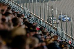 Battle between António Félix da Costa, BMW Team Schnitzer, BMW M4 DTM and Gary Paffett, Mercedes-AMG Team ART, Mercedes-AMG C63 DTM, spectators