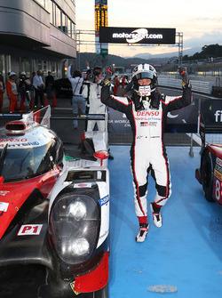 Race winner Kamui Kobayashi, Toyota Racing