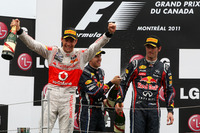Formula 1 Photos - Jenson Button, McLaren Mercedes; Sebastian Vettel, Red Bull Racing; Mark Webber (AUS), Red Bull Racing