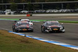Maximilian Götz, Mercedes-AMG Team HWA, Mercedes-AMG C63 DTM; Timo Scheider, Audi Sport Team Phoenix, Audi RS 5 DTM