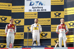 Podium: second place Mattias Ekström, Audi Sport Team Abt Sportsline, Audi A5 DTM; Winner Timo Glock, BMW Team RMG, BMW M4 DTM; 3rd place Jamie Green, Audi Sport Team Rosberg, Audi RS 5 DTM