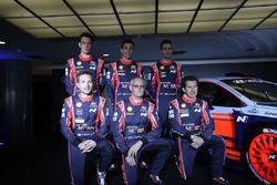 Dani Sordo, Hayden Paddon, John Kennard, Marc Marti, Nicolas Gilsoul, Thierry Neuville, Hyundai Motorsport unveil the 2017 Hyundai i20 Coupe WR