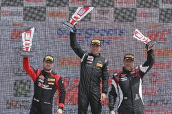 GTA podium: winner Frankie Montecalvo, second place Michael Schein, third place Andy Wilzoch