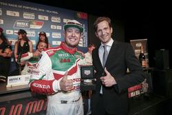 Rob Huff, Honda Racing Team JAS, Honda Civic WTCC and Stephane Pichavant