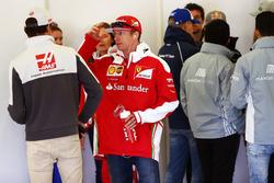 (L to R): Esteban Gutierrez, Haas F1 Team with Kimi Raikkonen, Ferrari on the drivers parade