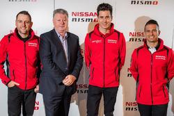 Todd Kelly, Nissan Motorsport, Richard Emery, Nissan Australia Managing Director & CEO, Rick Kelly, Nissan Motorsport and Michael Caruso, Nissan Motorsport