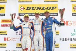 Podium: race winner Sam Tordoff, Team JCT1600 With Gardx, second place Andrew Jordan, Motorbase Performance, third place Robert Collard, Team JCT1600 With Gardx