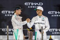 Race winner Lewis Hamilton, Mercedes AMG F1, second place Nico Rosberg, Mercedes AMG F1