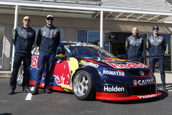 Shane van Gisbergen and Alexandre Prémat, Jamie Whincup and Paul Dumbrell, Triple Eight Race Engineering Holden with a special drift Holden