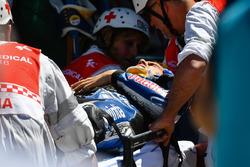 Loris Baz, Avintia Racing after crashing