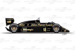 Lotus 98T driven by Ayrton Senna