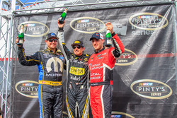 Podium: race winner Alex Tagliani, second place Andrew Ranger, third place Kevin Lacroix