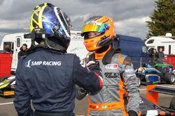 Race winner Matheus Leist, Double R Racing and Enaam Ahmed, Douglas Motorsport