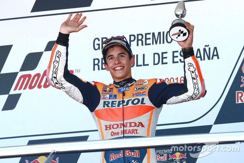 Podium: third place Marc Marquez, Repsol Honda Team