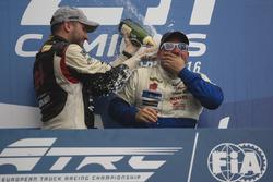 Podium: Norbert Kiss, Mercedes-Benz und Jochen Hahn, MAN