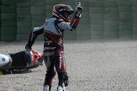 Moto2 Photos - Mika Kallio, Marc VDS Racing Team reacts after being taken down by Maverick Viñales, Pons HP 40
