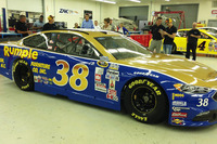 NASCAR Sprint Cup Photos - Landon Cassill, Front Row Motorsports Ford throwback scheme