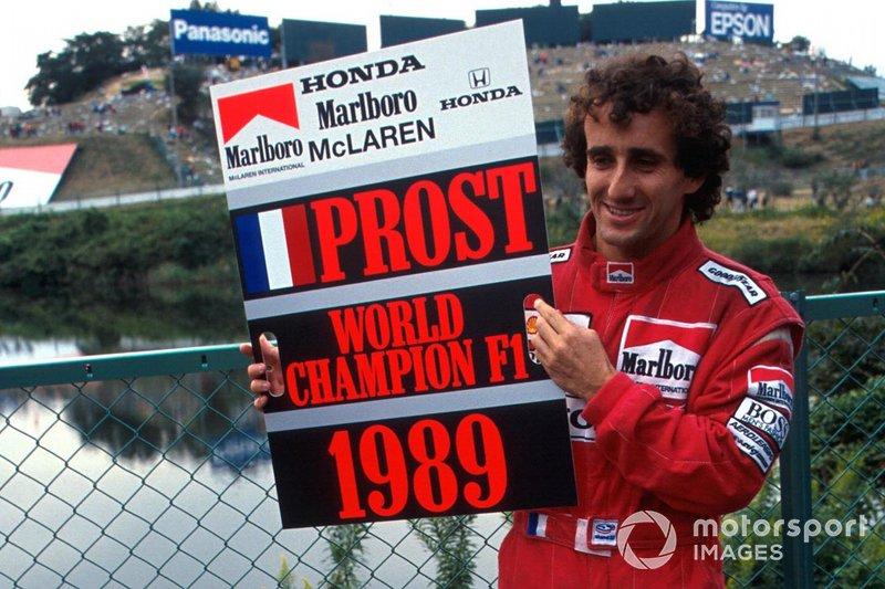 Alain Prost fue proclamado temporalmente Campeón del Mundo, ya que McLaren anunció su intención de apelar la decisión de descalificar a Ayrton Senna de la carrera