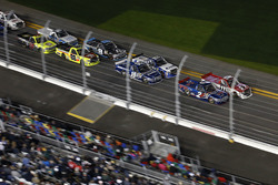 Timothy Peters, Red Horse Racing Toyota and Austin Theriault, Brad Keselowski Racing Ford are leading