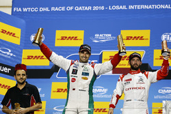 Podium: Race winner Mehdi Bennani, Sébastien Loeb Racing, Citroën C-Elysée WTCC; third place José María López, Citroën World Touring Car Team, Citroën C-Elysée WTCC