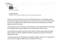 Formula 1 Photos - Anneliese Dodds letter to the European Commissioner for Competition - Part 3