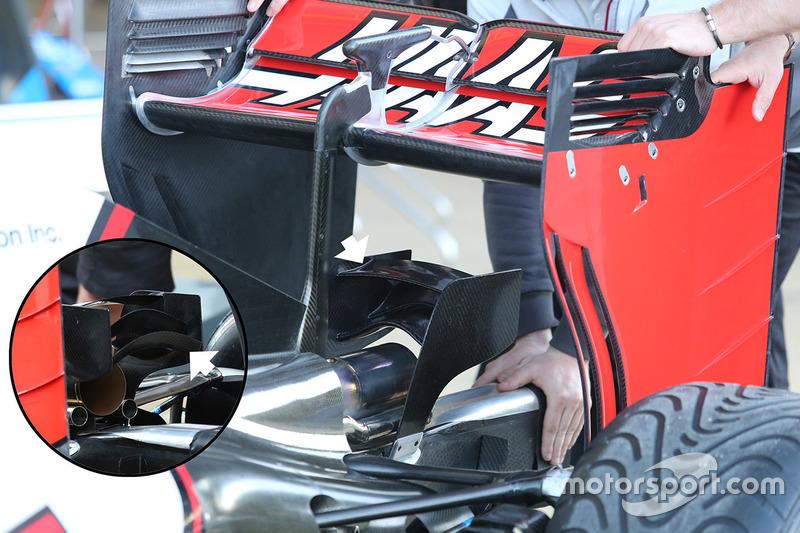 Haas F1 Team VF-16 monkey seat detail