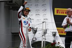 Alexander Albon, ART Grand Prix walks on to the podium
