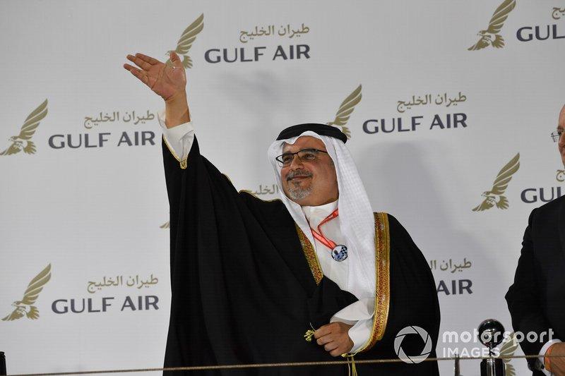 HRH Prince Salman bin Hamad Al Khalifa on the podium