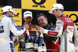 Podium: Gary Paffett, Mercedes-AMG Team ART, Mercedes-AMG C63 DTM; Edoardo Mortara, Audi Sport Team Abt Sportsline, Audi RS 5 DTM; Jamie Green, Audi Sport Team Rosberg, Audi RS 5 DTM