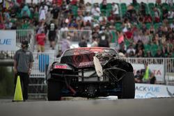 Juha Rintanen, Nissan 240, crashed car