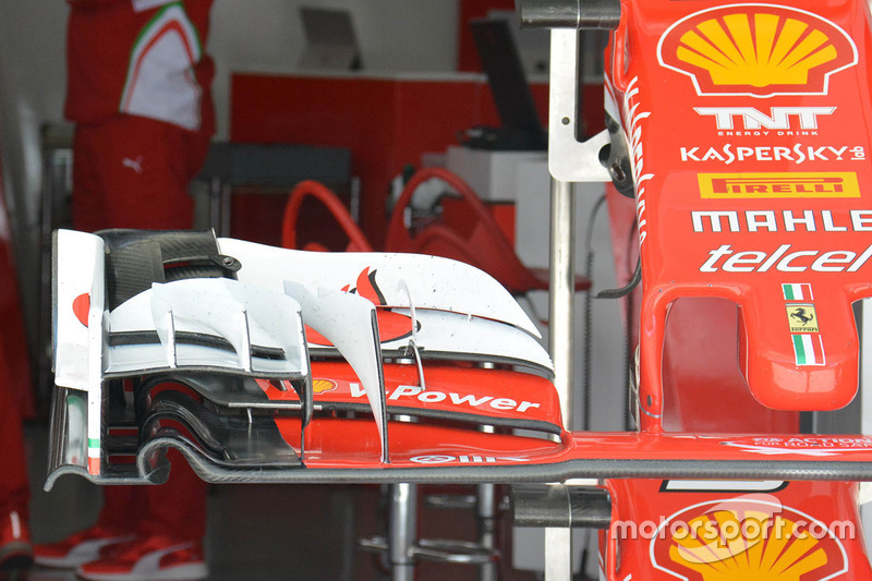 Old Ferrari SF16-H front wing detail