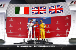 Podium: winner Jordan King, Racing Engineering, second place Luca Ghiotto, Trident, third place Oliver Rowland, MP Motorsport